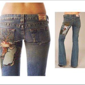 Rare Vintage TR Bobby lady Godiva mermaid jeans